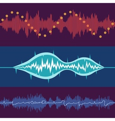 Music volume abstract background set vector