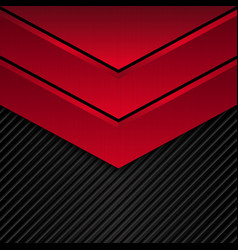 Black and red metallic background vector