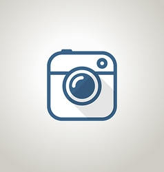 Vintage photo camera icon minimalism concept vector