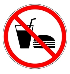 Do not eat and drinks sign vector