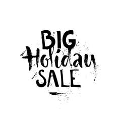Big christmas sale sign vector