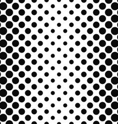 Black white seamless vertical dot pattern vector image vector image