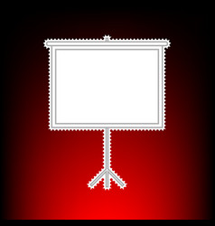 blank projection screen postage stamp or old vector image