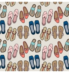 Clothes and shoes pattern doodle vector