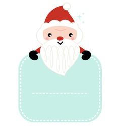 Cute cartoon Santa holding blank banner vector image vector image