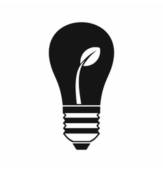 Ecology idea bulb with plant icon simple style vector image vector image