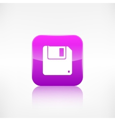 Floppy disk icon vector image vector image