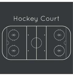 Ice hockey rink vector