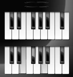 illustration of piano keys vector image vector image