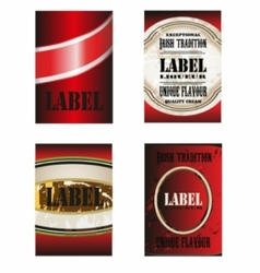 label template vector image vector image