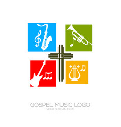 Musical instruments for the service of god vector
