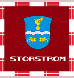 national ensigns of denmark - storstrom vector image vector image