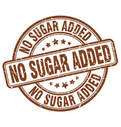 No sugar added brown grunge stamp vector