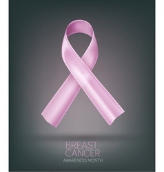 pink ribbon breast cancer awareness month Element vector image