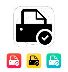 Printer with check sign icon vector image