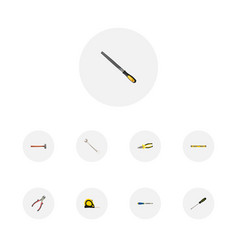 realistic sharpener carpenter length roulette vector image vector image