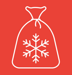 santa bag line icon new year and christmas vector image vector image
