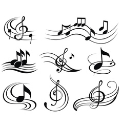 Set of music design elements or icons vector image vector image