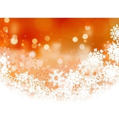 Snowflake orange Christmas holiday EPS 8 vector image vector image