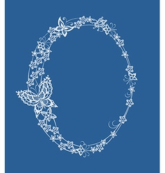 The frame of the elements of abstract lace vector