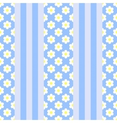 vertical stripes with flowers patterb vector image vector image