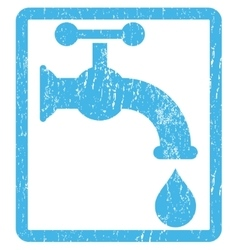 Water tap icon rubber stamp vector