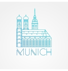 One line minimalist icon of german towers vector