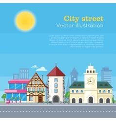 City street urban landscape vector
