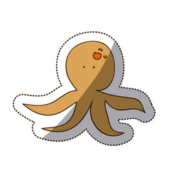 brown octopus icon stock vector image
