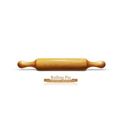 Object wooden rolling pin isolated on white vector