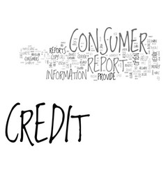 What you should know about consumer credit vector