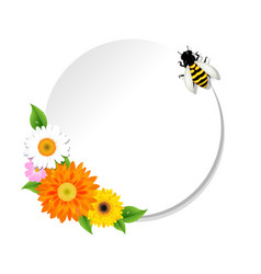 Honey background and bee and banner vector