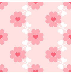Heart flower soft seamless wallpaper vector