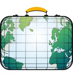 suitcase like world map vector image