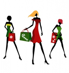 Christmas shopping vector