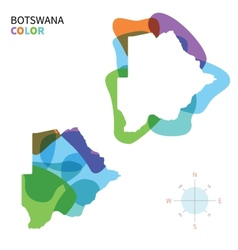 Abstract color map of botswana vector