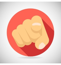Pointing finger potential client politician vector