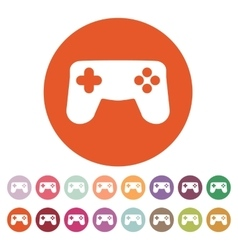 The gamepad icon game symbol flat vector