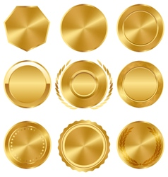 Golden premium quality best labels medals vector