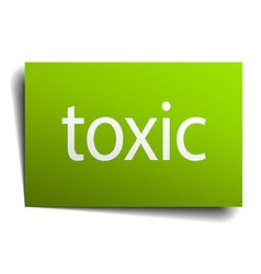 Toxic square paper sign isolated on white vector