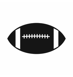 Rugby ball icon simple style vector