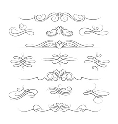 Vintage calligraphic ornate decoration elements vector