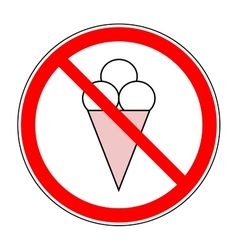 Do not eat ice cream sign vector