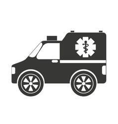 Ambulance car isolated icon design vector