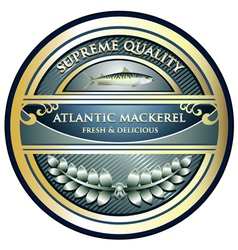 Atlantic mackerel label vector