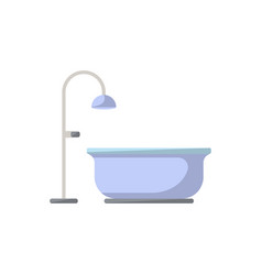 bathtub isolated icon in flat style vector image vector image