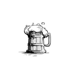 beer mug oktoberfest festival holiday decoration vector image vector image