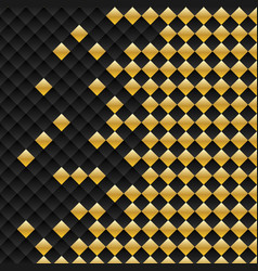 Black and gold square seamless pattern modern vector