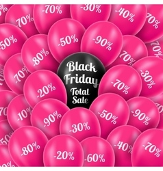 Black Friday Realistic pink vector image vector image