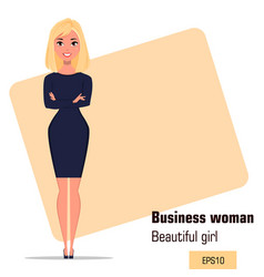 character beautiful business woman 18 vector image vector image